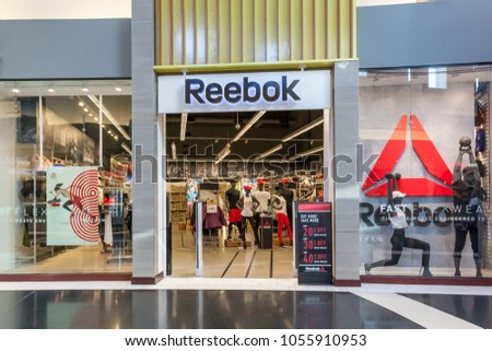 cdbaacb42 Vaughan, Ontario, Canada - March 24, 2018: Reebok storefront at Vaughan  Mills