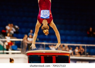 vault female gymnast to competition in artistic gymnastics