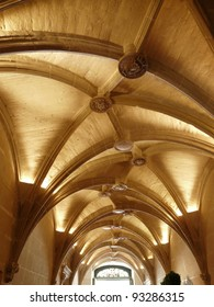 Vaulted ceiling in the hallway at the Chateau de Chenonceau, near Chenonceaux in France