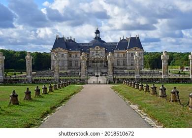 Vaux le Vicomte, France - august 23 2020 : the historical castle built by Nicolas Fouquet