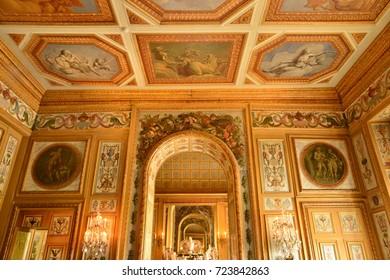 Vaux le Vicomte, France - july 22 2017 : the historical castle built by Nicolas Fouquet
