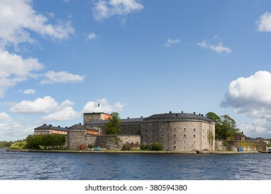 Vaxholm, Sweden - Jun 3, 2015 : View of Vaxholm Fortress during the summer, Stockholm, Sweden.