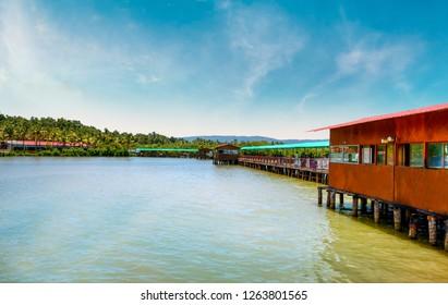 Vayalapra Floating Park Kannur Kerala, Beautiful Scenery of Kerala and best place for spend holydays boat safai kids park