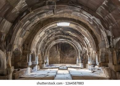 VAYOTS DZOR, ARMENIA - SEPTEMBER 27, 2017: Ancient caravanserai known as Orbelian's Caravanserai, in Vayots Dzor, Armenia.