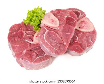 Veal Leg Slice on white Background