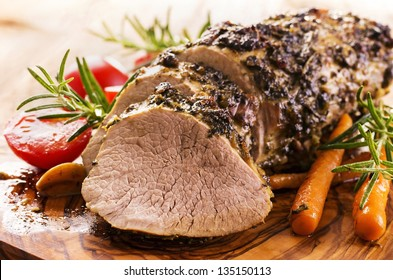 veal roast with vegetables