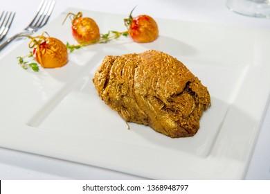 Veal Steak In Edible Gold
