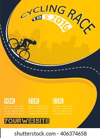 Vector bicycle race event poster design - Shutterstock ID 406374658