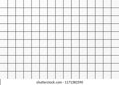 Vector black and white square checkered paper sheet background