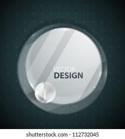 Vector circle glass ad screen banner
