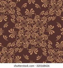 Vector damask seamless pattern background. Elegant luxury texture for wallpapers