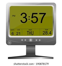 Vector electronic clock