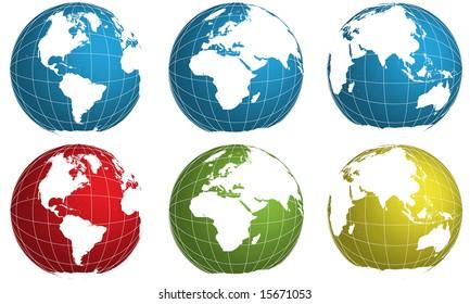 vector globe world