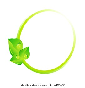 vector green concept - beautiful ecology illustration isolated on white background
