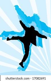 vector image of jumping man