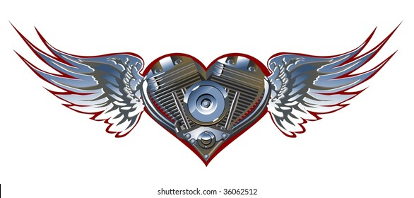 Vector Motorheart 1. Vector vesion see in my portfolio