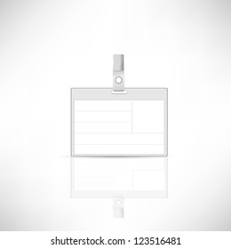 Vector (name tag )on white background.