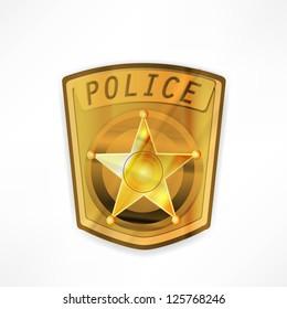 vector police badge
