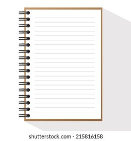 Vector Spiral Brown note book