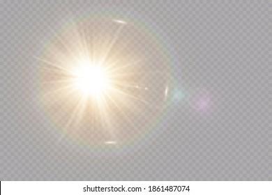 Vector transparent sunlight special lens flare light effect - Shutterstock ID 1861487074