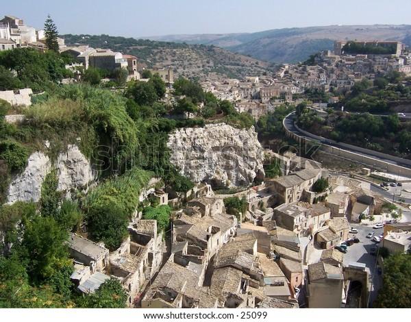 Veduta di Ragusa Ibla, Sicilia. Ragusa Ibla's landscape, Sicily