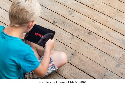 Veelerveen, Groningen, Netherlands, 07/25/18: Netflix is a payed online streaming entertainment service available around the world.