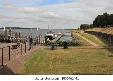 Veere, Netherlands July 6, 2019: Veere is a municipality with a population of 22,000 and a town with a population of 1,500 in the southwestern Netherlands, in the province of Zeeland.
