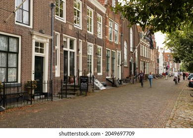 Veere, The Netherlands, September 26, 2021;  Street in the historic town of Veere in the province of Zeeland.