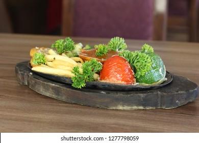 Veg Sizzler Dish