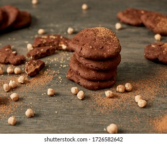 Veganische Schokoladenkekse mit Kichererbsen