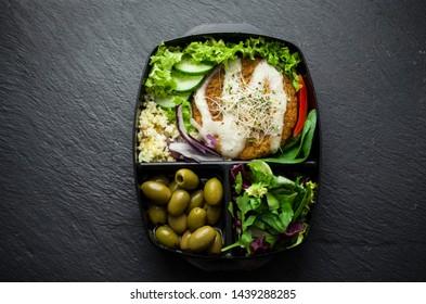 Vegan dish box diet, slim fit