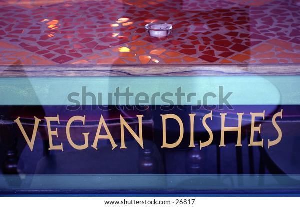 vegan dishes sign