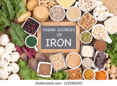 Vegan food rich in iron