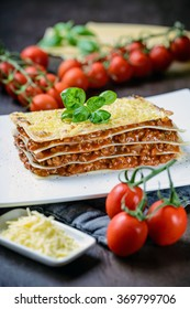 Vegan Lasagne with soy meat