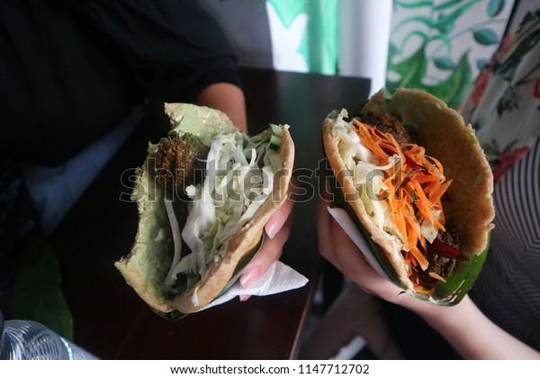 vegan organic fresh doner kebab
