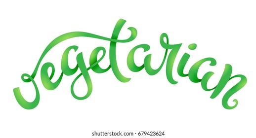 Vegan related lettering
