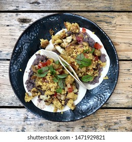 Vegan Tacos high angle view