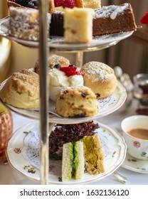 Vegan and Vegetarian London England High Tea Afternoon Tea Vegan Dessert Scones Cake Jam Cream