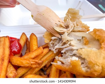 Vegan version of Fish and Chips in London UK. Vegan options for healthy lifestyle on the market of full delicious food.