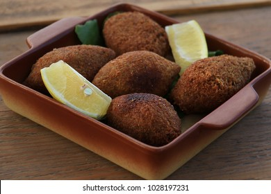 The vegan version of a traditional Lebanese dish, Kibbeh.