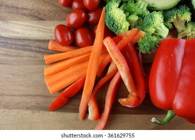 Veges on a tray