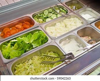 Vegetable addons in fast food kiosk