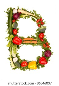 "Vegetable alphabet letter ""B"""
