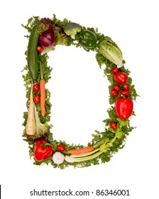 "Vegetable alphabet letter ""D"""