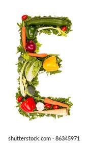 """Vegetable alphabet letter """"E"""""""