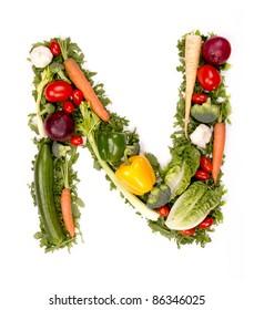 """Vegetable alphabet letter """"N"""""""