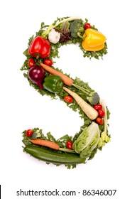 """Vegetable alphabet letter """"S"""""""