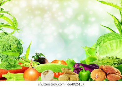 vegetable background with text copy space