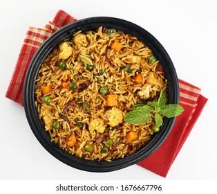Vegetable Biryani an Asian food Popular in India