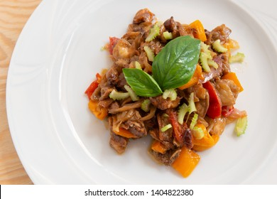 vegetable caponata grown on the island of Panarea in Sicily